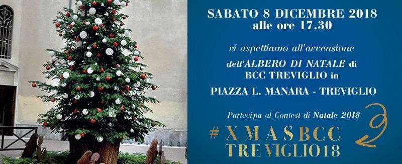 Albero Di Natale 8 Dicembre.Accensione Albero Di Natale 2018 Blog Bcc Treviglio